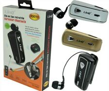 Auricolare Mono Bluetooth Con Clip-On Retrattile Linq R9010