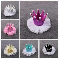 Fashion Crystal Rhinestone Crown Pearl Hair Clip Hairpin
