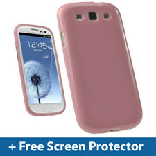 Pink Glossy TPU Gel Case for Samsung Galaxy S3 III i9300 Android Skin Cover