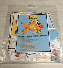 Fish -Themed Learning Activities Package - Laminated - Teaching supplies