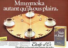 Publicité Advertising 107  1983  café Jacques Vabre (2p) Jour & Nuit étoile d'or