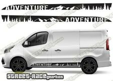 Fiat Talento sides 045 camper van racing stripes graphics ADVENTURE stickers