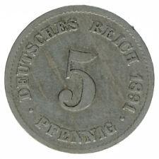 Deutsches Reich 5 Pfennig 1891 G A50266
