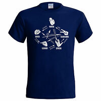 Big Bang Theory Rock Paper Scissors Lizard Spock Sheldon Cooper Mens T Shirt