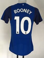 EVERTON 2017/18 S/S HOME SHIRT ROONEY 10 BY UMBRO SIZE MEDIUM NO SLEEVE BADGES