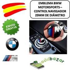 EMBLEMA LOGO PEGATINA BMW M BOTÓN MULTIMEDIA 29MM AUTOADHESIVO