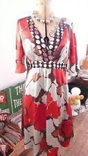 VINTAGE 1930 S/1940 S Stile Seta Monsoon Tea Dress 14