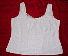 Women's Crown-ette White Lace Cami - Size 9X - NWT