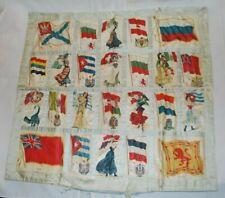 New listing Antique Tobacco Silks Quilt Cigarette Silks 24 Ethnic Women Countries Flags
