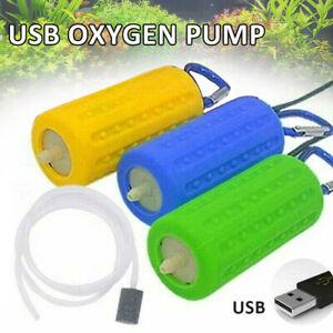 Mini tragbare USB Aquariumpumpe Sauerstoff Luftpumpe Wasserterrarium Airpump