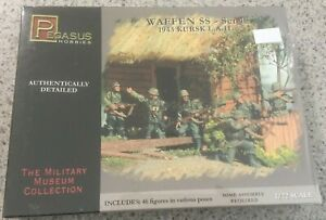 Pegasus Hobbies-WAFFEN SS-set 1 1943 KURSK L.A.H.-No.7201-1/72 model figure kit