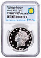 2016 1849 Pattern Double Eagle Smithsonian 1 oz Silver NGC GEM Proof UC SKU50157
