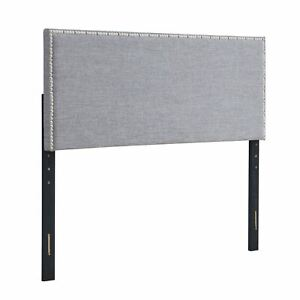 Mainstays Headboard with Nailheads, Full/Queen, Gray