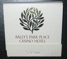 BALLY'S PARK PLACE CASINO HOTEL Matchbook Atlantic City NJ Jersey Boardwalk AC