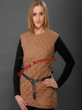 Gambeson Padded Medieval Celtic Viking Armor SCA LARP With Sleeveless Armour
