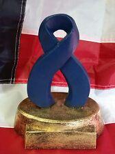 "Awareness Ribbon Fallen Police Officer Memorial Award 7.5""  Handmade Sculpture"