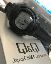 Sporty Q&q Men's Watch Analogue & Digital with World Time & 5 Alarm - Silicone