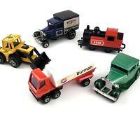 Lot of 5 Matchbox Superfast Cars / Trucks / Train 1970s Era Vtg Model A Ford