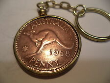 1958   Penny Coin Set in a Brass Bezel With Screw Top