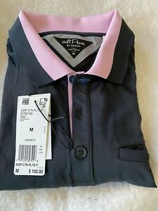 Adidas Golf Logo Mens Blue AdiPure Stretch SS Polo Shirt  NWT M $100