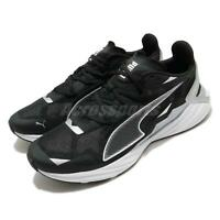 Puma UltraRide Black Silver White Men Running Shoes Sneakers Trainers 193753-01