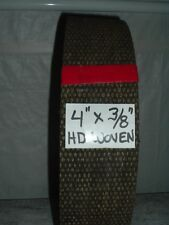 """WOVEN BRAKE LINING (DIAMOND GROOVE) 4"""" WIDE X 3/8"""" THICK ~14.5 INCH PIECE"""