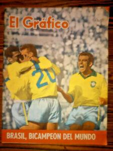 SOCCER WORLD CUP Chile 1962 - Brazil Champion Magazine