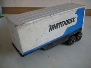 MATCHBOX BIG MOVERS PRESSED STEEL CONTAINER TRUCK TRAILER ONLY RARE