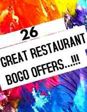 Nationwide Restaurant Discount Card - 26 Restaurants - GREEN...SPRING SALE....!!
