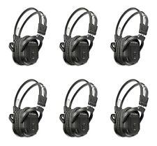 Set of 6 New Fold in Wireless DVD Infrared Headphones Headset For Dodge Chrysler
