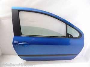 Peugeot 307 F Bj01-09 Schräghecklimo 3 Türer Tür Rechts Beifahrer blau KMF el.FH