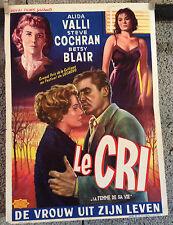 cinema-affiche originale BELGE- LE CRI - IL GRIDO - Antonioni 36x56-1957-Cochran