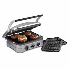 Cuisinart Griddler Panini Press Grill GR-4N Griddle Sandwich Stainless Steel NEW