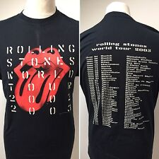 ROLLING STONES Men's 2003 World Tour T Shirt OFFICIAL Size XL NEW
