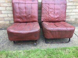 Morris Minor 1000 Leather Front Seats Project