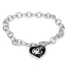 ESPRIT  Lovely Heart * Love* Bracelet in Black Enamel and 925 Sterling silver
