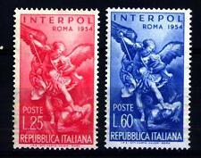 ITALIA REP. - 1954 - 23° Assemblea Generale dell'Interpol - Serie Completa -
