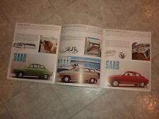 1964 SAAB 96 MONTE CARLO 850 & STATION WAGON LITERATURE MANUAL BROCHURE PAMPHLET
