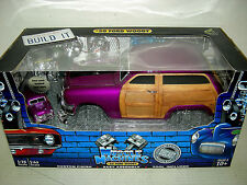 50 FORD WOODY IN PURPLE BUILD IT KIT COMPLETE. MIB MUSCLE  MACHINE 1:18