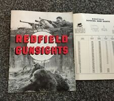 1950's Redfield Gunsights, On the Range In the Field Catalog plus Sight Chart