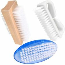 NAIL BRUSHES Wood Plastic Soft/Strong Bristle Scrubbing Cleaning Mani Pedi UK