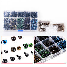 264X 6-12mm Mix Color Plastic Safety Eyes for Teddy Bear Doll Puppet Craft