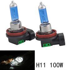 2pcs 12V 100W H11 Super Bright White Fog Halogen Bulb Car Head Light Lamp