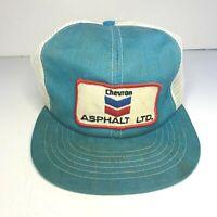 VTG Chevron Asphalt Truckers Hat Snapback Mesh Cap Vintage