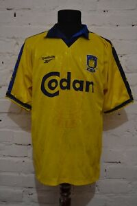 VINTAGE BRONDBY HOME FOOTBALL SHIRT 1997/1998 SOCCER JERSEY REEBOK MENS L RARE