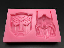 Transformers silicone mould sugarcraft chocolate cup cake mold X'mas Gift