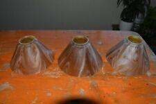 Set of three vintage 1930s glass light shades