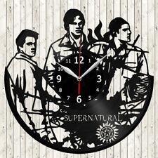 Supernatural Vinyl Record Wall Clock Decor Handmade 2588