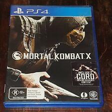 Mortal Kombat X (PS4 / Playstation 4 game, 2015) - PAL - FREE POST