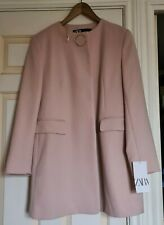 Zara Frock Coat/Blazer/Jacket BNWT in Pink Size M Fit UK 10/12